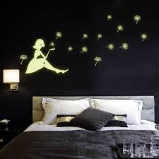 Wall Decal For Living Room Aliexpress Com Buy Dandelion Fluorescence Noctilucent Diy