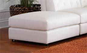 White Storage Ottoman White Modular Sectional Quinn Collection