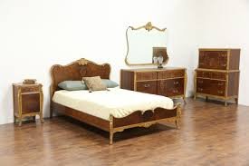 French Style Bedroom Set French Style 5 Pc 1930 U0027s Vintage Marquetry Bedroom Set Full Size