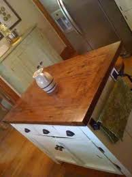 homemade kitchen island project completed