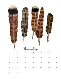november printable calendar and wallpaper think crafts by