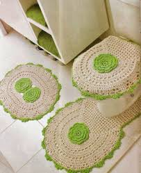 Crochet Bathroom Rug by Crochet Rug Barbante 100 Photos And Footsteps Home Decoo
