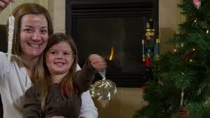 Mother Daughter Christmas Ornaments Mother And Daughter Frosting Christmas Cookies Stock Footage Video