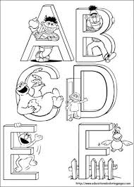 sesame street coloring pages kid