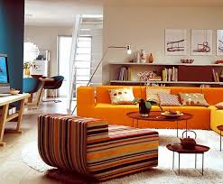 Living Room With Orange Sofa 10 Bright Living Room In Orange Modern Small Bathroom Ideas