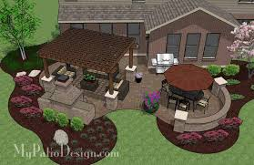 outdoor living plans patio designs and patio ideas with seating walls outside ideas