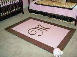 Nursery Area Rugs Image Detail For Baby Girl U0027s Pink And Brown Custom Rectangle