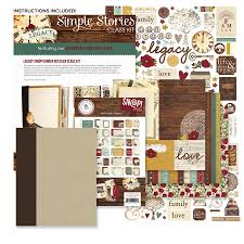 scrapbook album kits simple stories legacy snap binder class kit