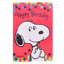 happy birthday from snoopy greeting card online shopping india