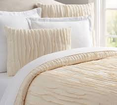 How To Change A Duvet Cover Camille Duvet Cover U0026 Sham Pottery Barn