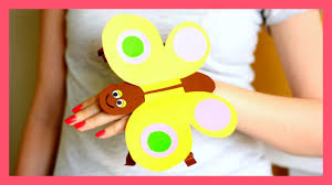 paper butterfly hand puppet craft template paper crafts for kids