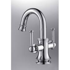 Single Tap Faucet Chrome Finish Two Handles Single Hole Mount Mixer Taps Bathroom