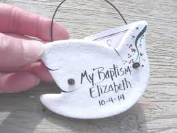 personalized baptism ornament primitive dove ornaments set of 10 personalized baptism favors