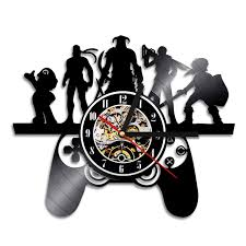 Christmas Home Design Games 1piece Playstation Game Characters Theme Vinyl Record Wall Clock