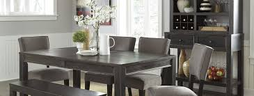 Elegant Dining Room Tables by Furniture Elegant Dining Table Set In Grey By Walker Furniture