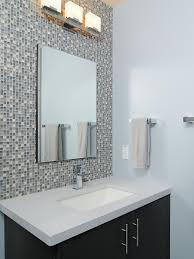 simple design bathroom mosaic tiles ideas features brown color