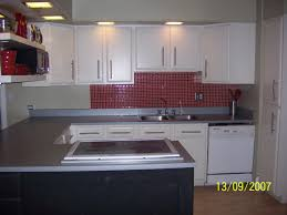 Red Kitchen Faucet Kitchen Small Ideas With White Cabinetry And Grey Granite