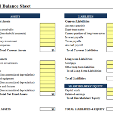 Excel Balance Sheet Template Free Simple And Editable Balance Sheet Template Free Helloalive