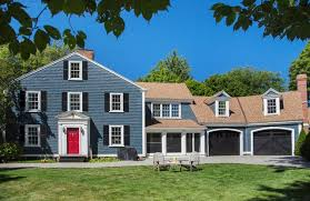 blue house white trim red door blue house houzz