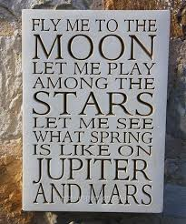 wall plaque fly me to the moon garden wall plaques
