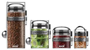 evak glass food storage set contemporary kitchen canisters and