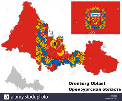 Blank Map Of Russia by Outline Map Of Orenburg Oblast With Flag Regions Of Russia