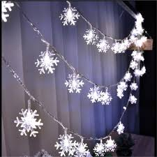 snowflake lights 8m 50led string lights white snowflake window garlands decorations