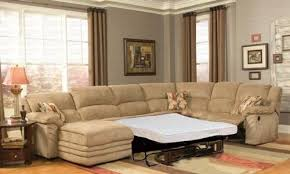 Sectional Sofa With Sleeper And Recliner Reclining Sectional Left Sofa With Sleeper In Beige Microfiber