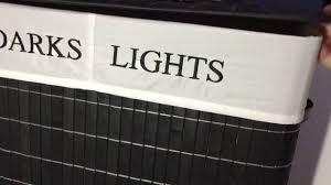 Light And Dark Laundry Hamper by Songmics Folding Laundry Basket Youtube