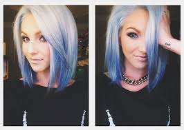 short hairs hairline female free shipping natural hairline short bob ombre white to blue two