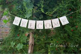 Shabby Chic Home Decor Wholesale by 2017 Wholesale Welcome Lace Canvas Banner Rustic Welcome Sign