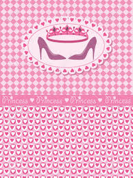 Princess Birthday Invitation Cards Invitation Card With Princess Crown And Shoes Royalty Free