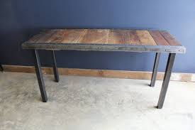 30 x 48 dining table 30x48 industrial dining table with raw steel trim and straight steel