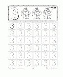 number trace worksheet for kids crafts and worksheets for
