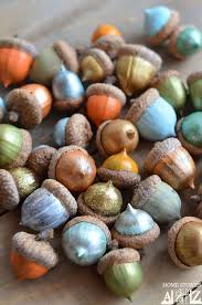 Cool Thanksgiving Crafts For Kids How To Paint Acorns Thanksgiving Craft And Fall Decor