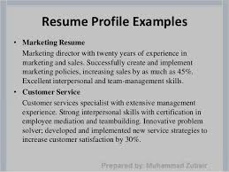 Example Of Profile For Resume by How To Write A Resume Profile Haadyaooverbayresort Com