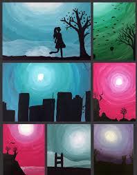 Monochromatic - art with mrs elliott monochromatic scenes in silhouette