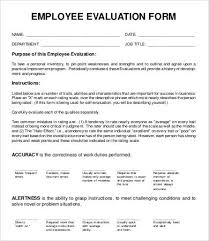 blank evaluation form template cried info