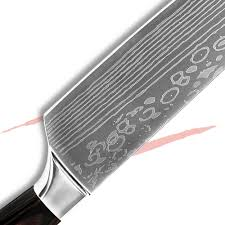 good quality chef knife 8 inch kitchen knife laser veins stainless