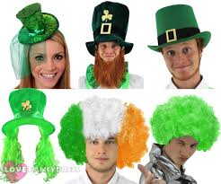 irish four leaf clover hat novelty st patricks day fancy dress