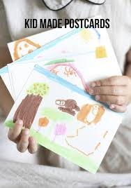 kid made postcards summer vacations creative and postcards