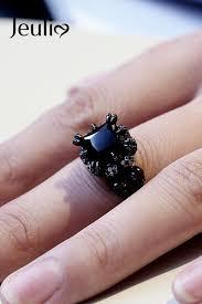 cool fashion rings images Black tone princess cut sterling silver skull ring cool fashion jpg