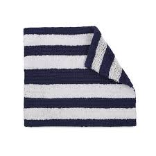 izod striped reversible cotton bath rug 17 x 24 free shipping