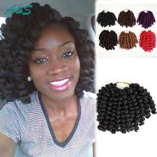 Curly Hair Extensions For Braiding by 20 Strands Pack Natural Balck Thick Crochet Braids Hair Extension