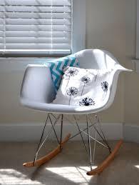 lexington modern white molded rocking chair black white aqua