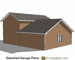 Detached 2 Car Garage by 34x38 Rv Garage Plans With 2 Car Garage