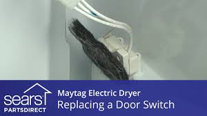 how to replace a maytag electric dryer door switch youtube