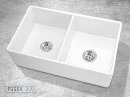 white double kitchen sink fsw1003 luxury 32 inch pure fireclay modern farmhouse sink in white