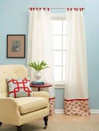 Make Curtains Out Of Sheets Attach Fabric Along The Bottom Of Curtains To Turn Basic Panels