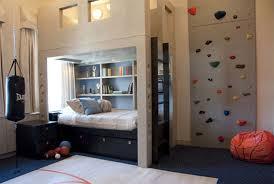 bedroom expansive boy kids bedrooms concrete wall decor lamp
